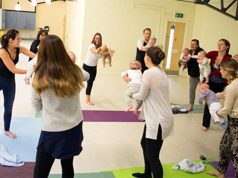 Buddha Buddies baby yoga group poses