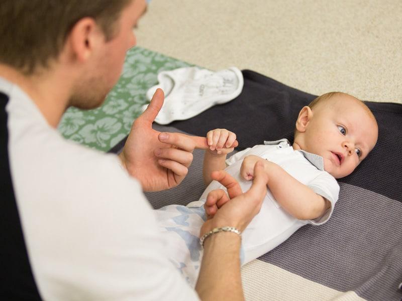 Buddha Buddies baby yoga with daddy